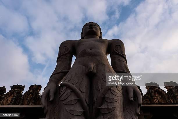 bahubali statue - sravanabelagola stock photos and pictures