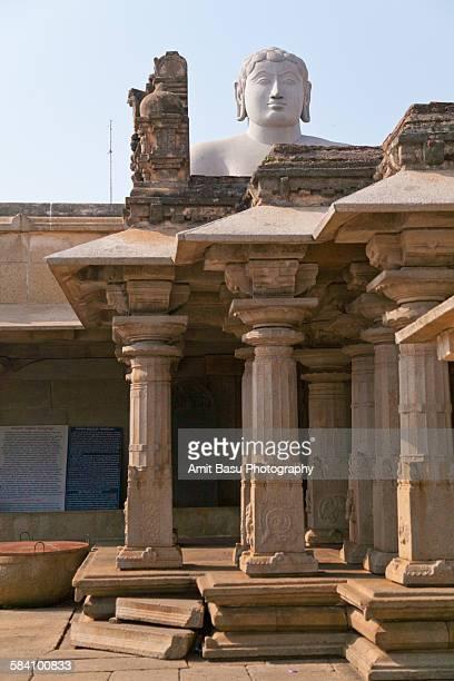 bahubali statue, sravanabelagola, india - sravanabelagola stock photos and pictures