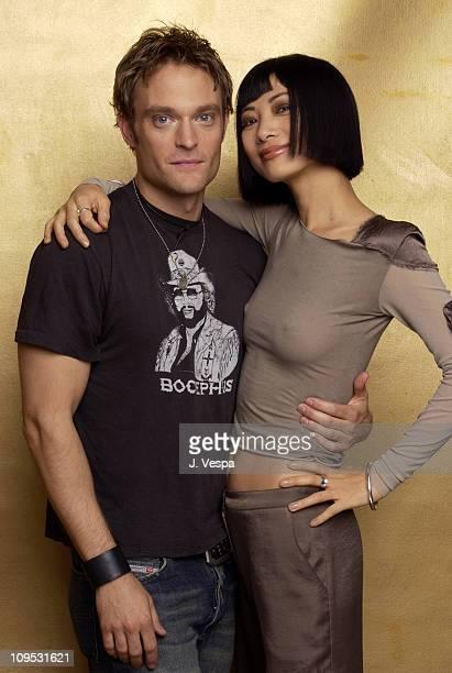 Bai Ling and Chad Allen during 2003 Tribeca Film Festival 'Paris' Portraits at WireImage Portrait Studio Michael Perez Pop Art Gallery in New York...