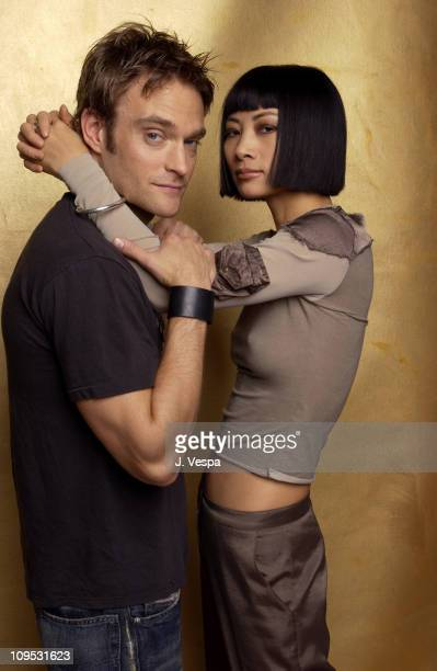 Bai Ling and Chad Allen during 2003 Tribeca Film Festival 'Paris' Portraits at WireImage Portrait Studio Michael Perez Pop Art Gallery in New York...