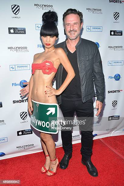 Bai Ling and David Arquette attend the 2015 Hollywood Film Festival Opening Night Gala on September 24 2015 in Hollywood California