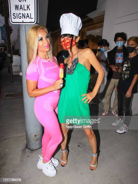 Bai Ling and Marcela Iglesias are seen on July 25 2020 in Los Angeles California