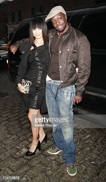 Bai Ling and Wyclef Jean during Celebrity Sightings at the Gansevoort April 27 2007 at Gansevoort Hotel in New York City New York United States