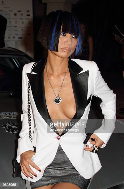 Bai Ling arrives at The Rally for Kids with Cancer Celebrity Draft Party on November 20 2009 in Miami Beach Florida