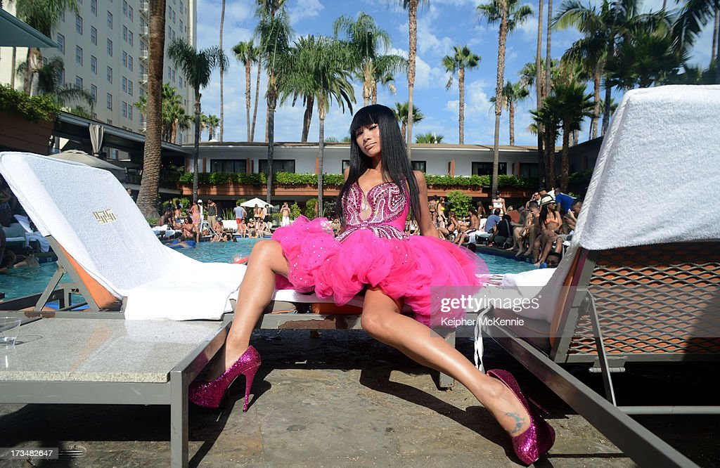 Bai Ling at the 4th Annual Alex Thomas Celebrity Golf Weekend Pool Party hosted by NFL's Jacoby Jones of the Baltimore Ravens at Hollywood Roosevelt Hotel on July 14, 2013 in Hollywood, California.