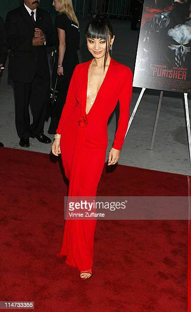 """Bai Ling attending the premiere of """"The Punisher"""" at the Archlight Theatre in Hollywood, California 04/13/04"""