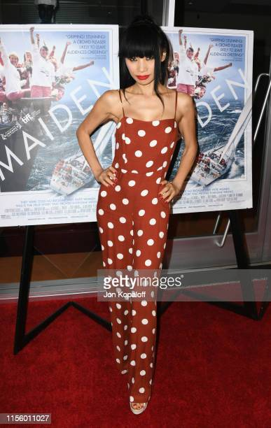 """Bai Ling attends LA Premiere Of Sony Pictures Classic's """"Maiden"""" at Linwood Dunn Theater on June 14, 2019 in Los Angeles, California."""