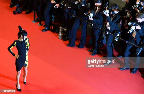 Bai Ling attends the Premiere of 'Tian Zhu Ding' during The 66th Annual Cannes Film Festival at Palais des Festivals on May 17 2013 in Cannes France