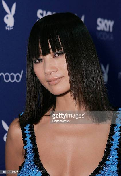 Bai Ling during Skyy Vodka Celebrates Playboy's August Issue With Playmate of the Year Kara Monaco Red Carpet at Mood in Hollywood California United...