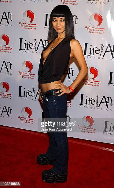 Bai Ling during The First Annual Red Party To Benefit The Life Through Art Foundation at Private residence in Holmby Hills California United States