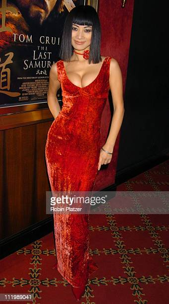 Bai Ling during 'The Last Samurai' New York Premiere at The Zeigfeld Theater in New York City New York United States