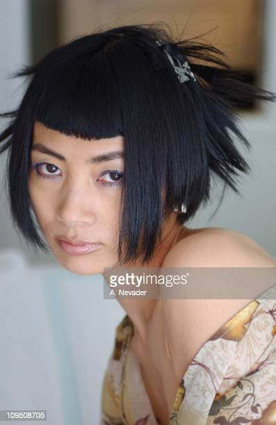 Bai Ling portrait shoot before the Vanity Fair Fashion Tribute to Guess? on May 9, 2002