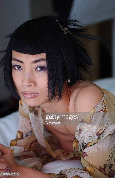 Bai Ling portrait shoot before the Vanity Fair Fashion Tribute to Guess on May 9 2002