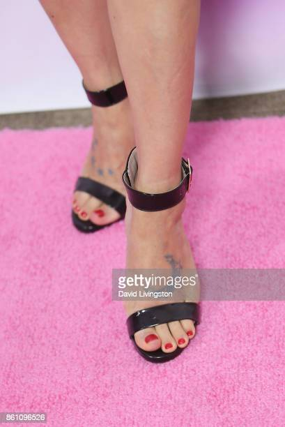"""Bai Ling, shoe detail, arrives at the Premiere of Craftsmen Media Co.'s """"Lady-Like"""" at the Academy Of Motion Picture Arts And Sciences on October 13,..."""
