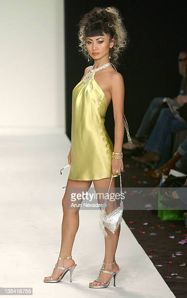 Bai Ling wearing Single Spring 2005 during MercedesBenz 2005 Spring Fashion Week at Smashbox Studios Single Runway at Smashbox Studios in Culver City...