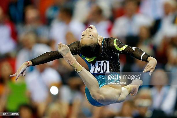Bai Yawen of China performs on the Balance Beam during the Women's Balance Beam Final on day six of the 45th Artistic Gymnastics World Championships...