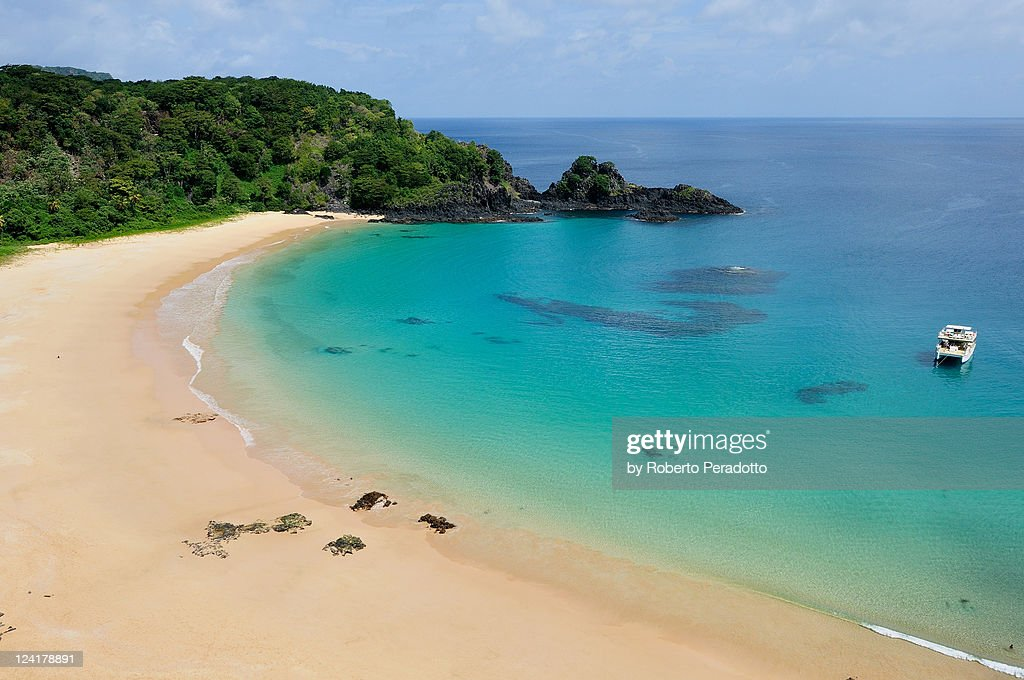 Baia do Sancho is most beautiful beach in Brazil : Stock Photo