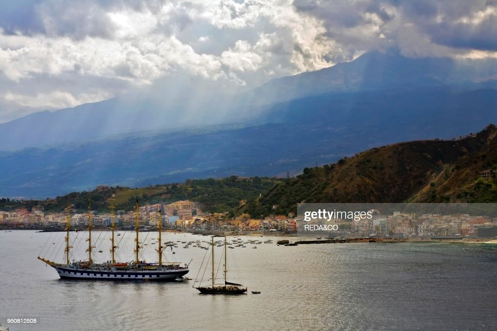 Baia giardini di naxos messina sicily italy europe news photo