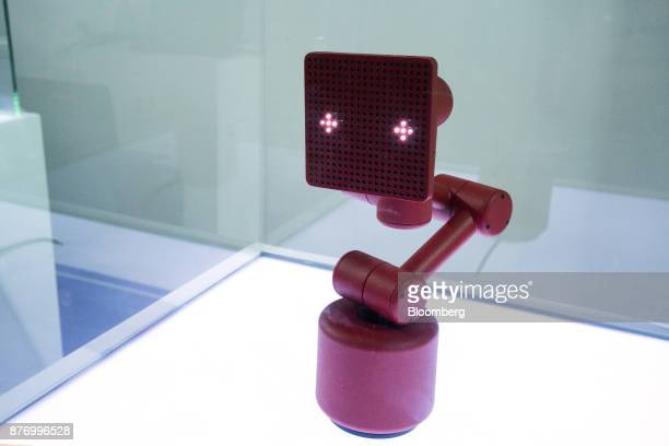 Baidu Inc's Raven R robotic device stands on display at the Baidu World Technology Conference in Beijing China on Thursday Nov 16 2017 Baidu has...
