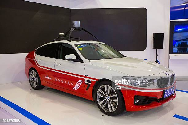 A Baidu selfdriving car is on display during The Light of the Internet Expo as part of the 2nd World Internet Conference on December 14 2015 in...