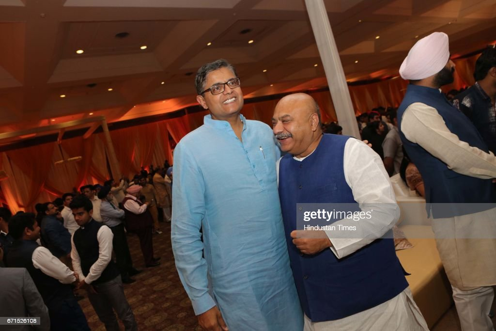 Wedding Reception Of MP Dushyant Chautala With Meghna Ahlawat : News Photo