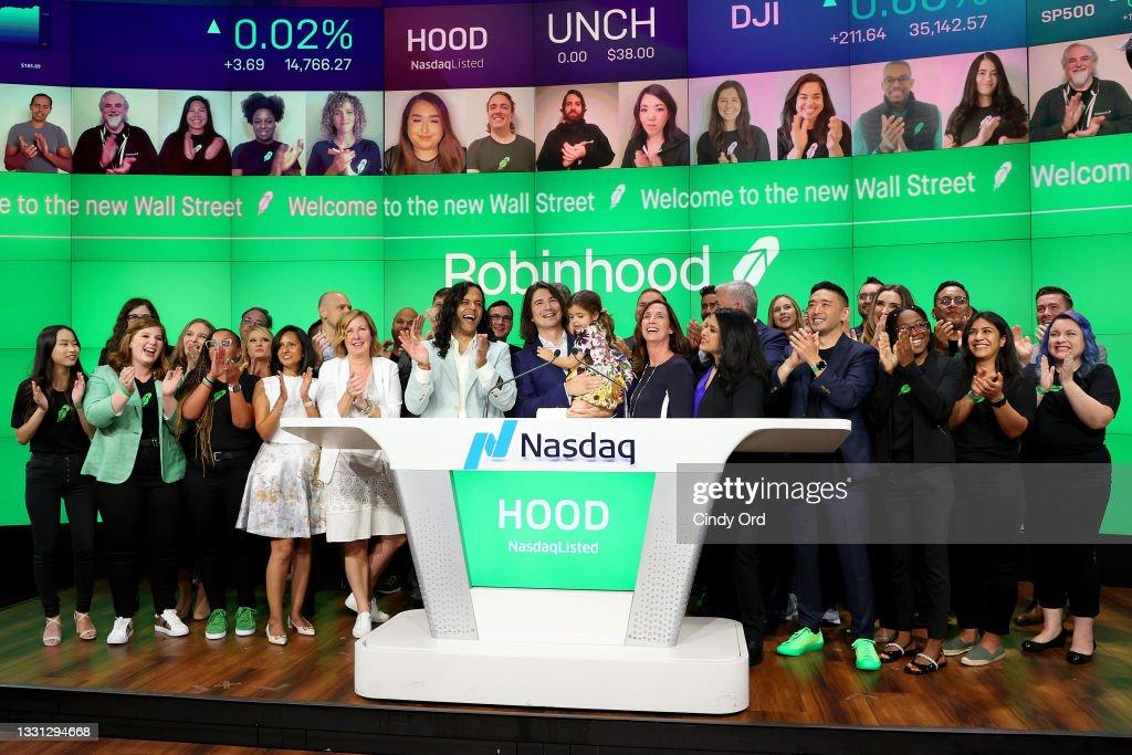 Robinhood Markets IPO Listing Day : News Photo