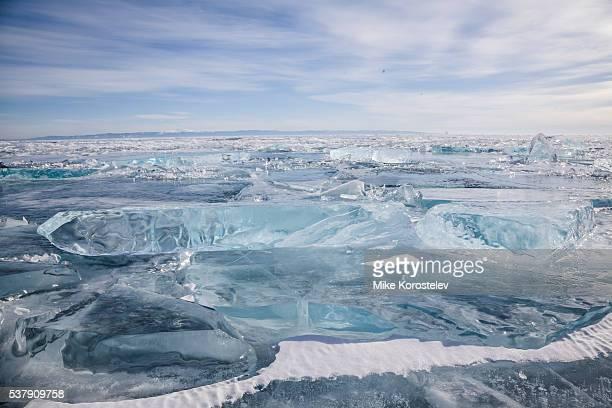 Baikal lake ice