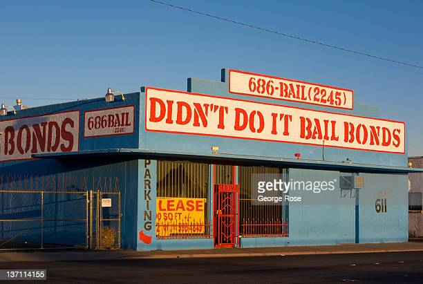 A bail bonds office on the northern edge of downtown on December 25 2011 in Las Vegas Nevada Though tourism is slowly making a comeback on the Strip...