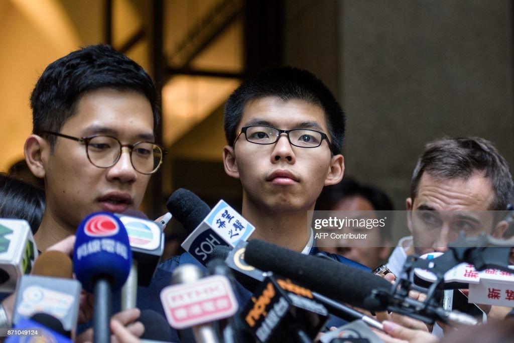 HONG KONG-POLITICS-DEMOCRACY-ACTIVIST-JAIL-APPEAL : News Photo