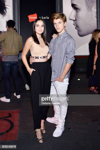 Bailee Madison and Alex Lange at x karla Launch Party at Maxfield on August 3 2017 in Los Angeles California