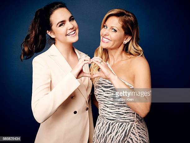 Bailee Madison and Candace Cameron Bure are photographed at the Hallmark Channel Summer 2016 TCA's on July 27 2016 in Los Angeles California