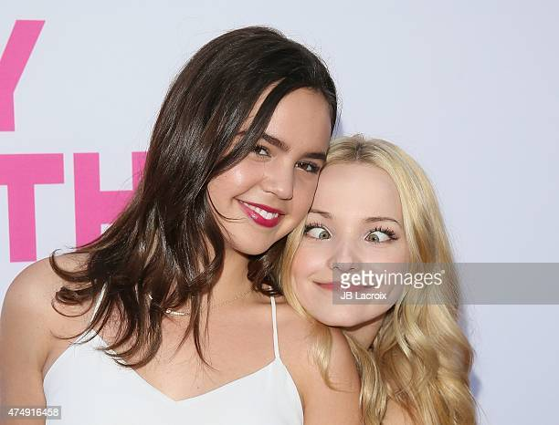 Bailee Madison and Dove Cameron attend the 'Barely Lethal' Los Angeles Special Screnning on May 27 2015 in Hollywood California