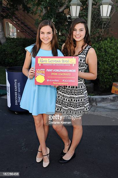 Bailee Madison and Taylor Hay attend LA Loves Alex's Lemonade event at Culver Studios on September 28 2013 in Culver City California
