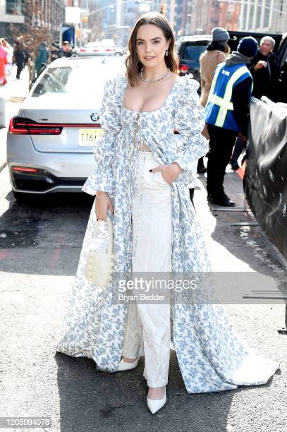 Bailee Madison arrives to NYFW The Shows in a BMW 750i xDrive Sedan in New York City on February 06 2020 For the second consecutive year BMW is the...