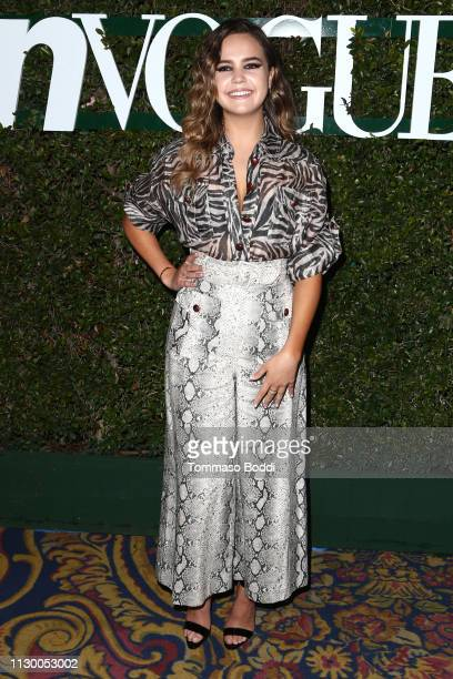 Bailee Madison attends the Teen Vogue's 2019 Young Hollywood Party Presented By Snap at Los Angeles Theatre on February 15 2019 in Los Angeles...