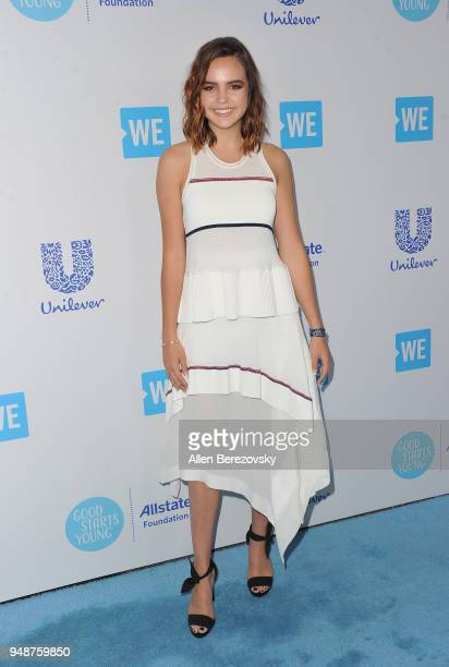 Bailee Madison attends WE Day California at The Forum on April 19 2018 in Inglewood California