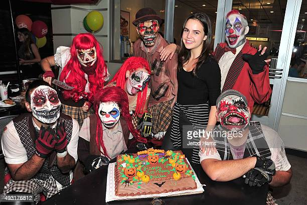 Bailee Madison celebrates her Sweet 16 Birthday at Knott's Scary Farm at Knott's Berry Farm on October 17 2015 in Buena Park California