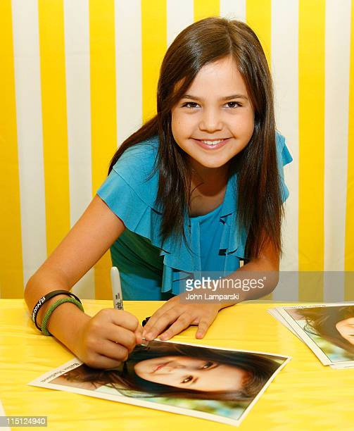 Bailee Madison visits Alex's Lemonade Stand Foundation lemonade grand stand at Toys R Us on June 3 2011 in New York City