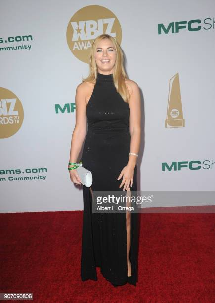 Bailey Brooke arrives for the 2018 XBIZ Awards held at JW Marriot at LA Live on January 18 2018 in Los Angeles California