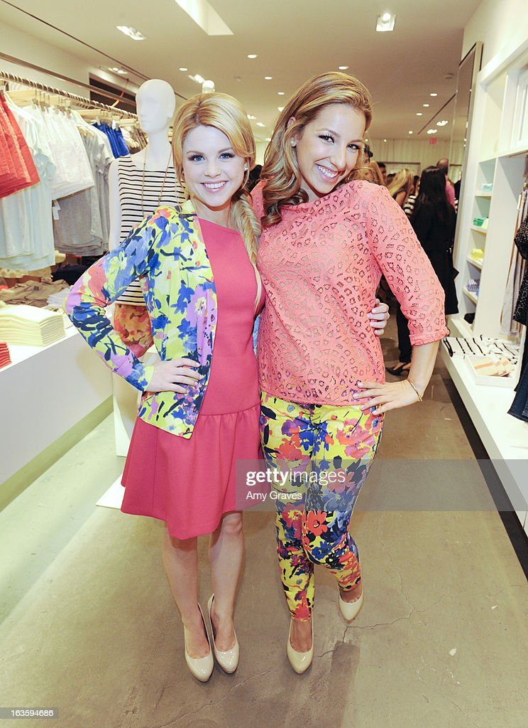 Bailey Buntain and Vanessa Lengies attend the LOFT Pop-Up On Robertson event on March 12, 2013 in Los Angeles, California.