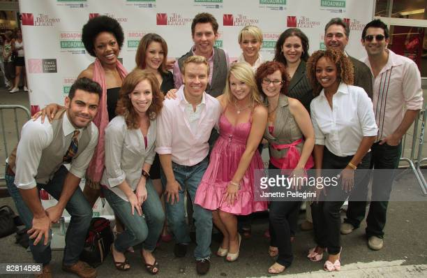 Bailey Hanks with the cast of Legally Blonde attends Broadway on Broadway in Times Square on September 14 2008 in New York City