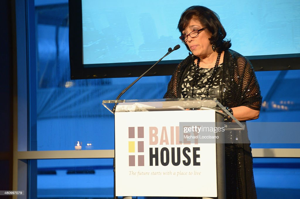 Bailey House CEO Regina Quattrochi addresses the audience during the Bailey House's 2014 Gala & Auction at Pier 60 on March 27, 2014 in New York City.