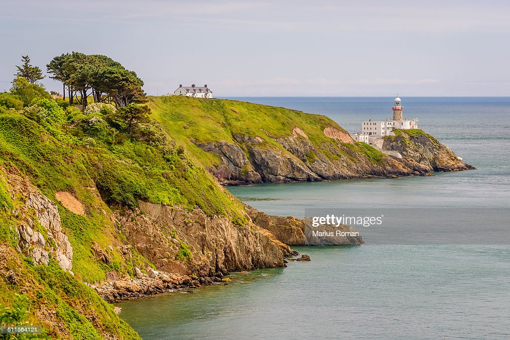 Bailey Lighthouse, Howth Head, Dublin, Ireland. : Stock Photo
