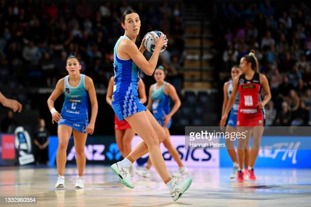 Bailey Mes of the Mystics secures posession during the ANZ Premiership Grand Final match between the Northern Mystics and the Tactix at Spark Arena...