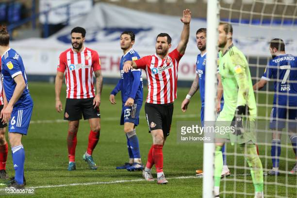 Bailey Wright of Sunderland during the Sky Bet League One match between Ipswich Town and Sunderland at Portman Road on January 26, 2021 in Ipswich,...