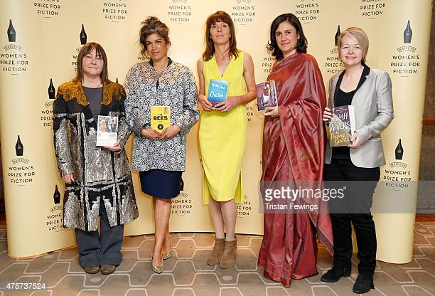 Baileys Women's Prize for Fiction 2015 shortlisted authors Ali Smith Laline Paull Rachel Cusk Kamila Shamsie and Sarah Waters American author Anne...