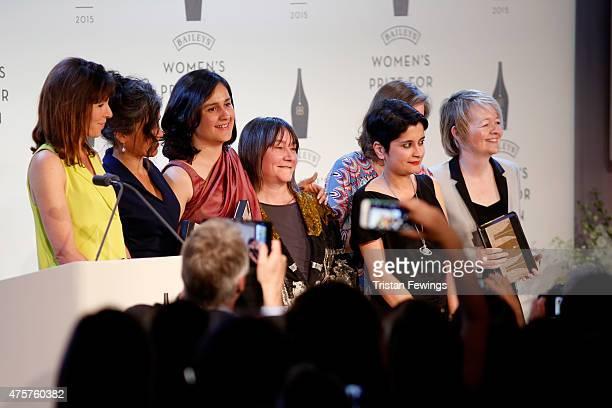 Baileys Women's Prize for Fiction 2015 shortlisted authors Rachel Cusk Laline Paull Kamila Shamsie Ali Smith chair of judges Shami Chakrabarti Anne...