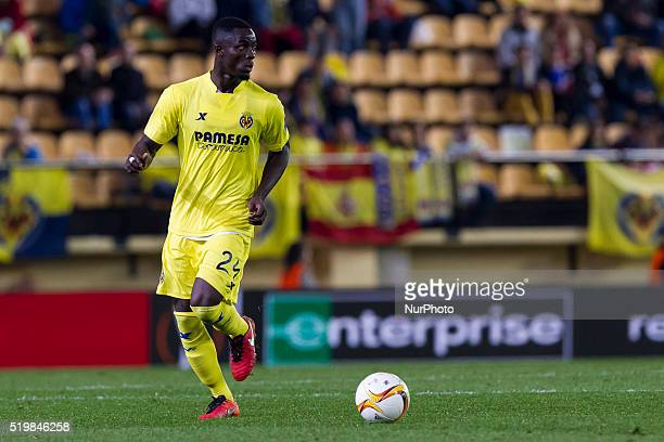 24 E Bailly del Villarreal CF during UEFA Europa League quarterfinals first leg match between Villarreal CF v Sparta Prague at El Madrigal Stadium in...