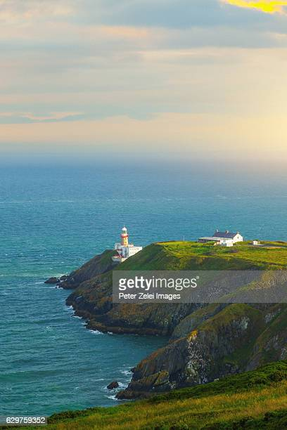 Baily Lighthouse on the southeastern part of Howth Head in Dublin, Ireland.