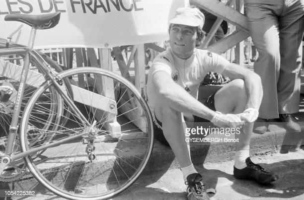 Bain-de-Bretagne, France, 23 juillet 1979 --- Le critérium de Bain-de Bretagne 1979 . Le coureur cycliste français Bernard HINAULT.